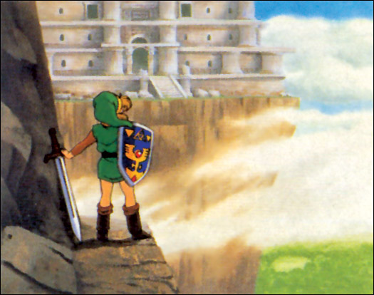 Link looking at Hera's Tower